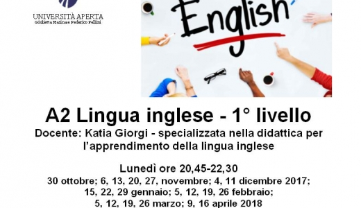 A2 Inglese - 1° livello